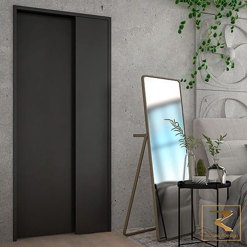 Скрытая межкомнатная дверь Hidden-Visible Rezident Design