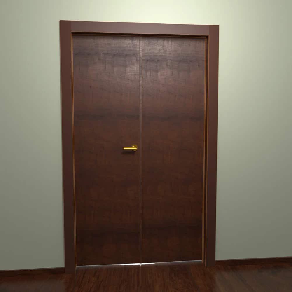 Общий вид отсутствия зазора между дверями с профилем притвора SPLIT